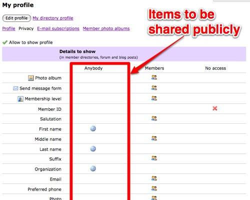 Screenshot privacy settings edit profile