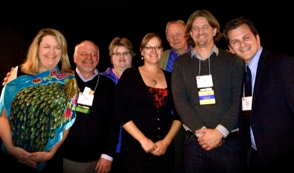 Several of the 2013 board members at the IAP2 2013 Conference.