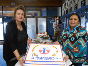 "Why are these ladies celebrating? ""Indigenous Corporate Collaboration"" will tell you!"